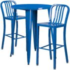 Avera 3 Piece Bar Height Dining Set Finish: Blue