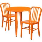 Cadwell Metal Indoor/Outdoor 3 Piece Bistro Set Finish: Orange
