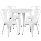 Chamblee Metal Indoor/Outdoor 5 Piece Dining Set Finish: White