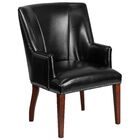 Deontaye Leather Guest Chair Seat Color: Black