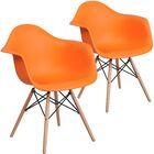 Restivo Guest Chair Seat Color: Orange