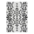 Abbie Hand-Woven Black Area Rug Rug Size: 5' X 8'