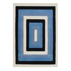 Dicarlo The Lovely Shades Hand-Woven Black/Blue Area Rug Rug Size: 5' X 8'