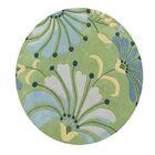 Delanco Hand Woven Wool Green Indoor Area Rug Rug Size: Round 6' x 6'