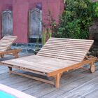 Bel-Air Double Reclining Teak Chaise Lounge