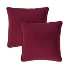 Glendon Velvet Throw Pillow Color: Windsor Wine