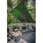 Aurora 9' Square Cantilever Umbrella Color: Forest Green
