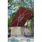 Aurora 9' Square Cantilever Umbrella Color: Burgundy