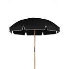 7.5' Drape Umbrella Fabric: Black Acrylic
