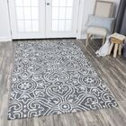 Nordmeyer Hand-Tufted Gray Area Rug Rug Size: Rectangle 2'6