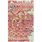 Duron Hand-Tufted Pink/Red Area Rug Rug Size: Rectangle 8' x 10'