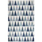Malcolm Hand-Tufted Wool Gray/Blue Area Rug Rug Size: Rectangle 5' x 8'