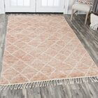 Doleman Hand-Knotted Wool Rust Area Rug Rug Size: Rectangle 8'9