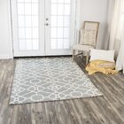 Genny Hand-Tufted Wool Gray Area Rug Rug Size: 8' x 10'