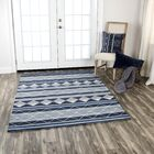 Broadlands Hand-Tufted Wool Blue Area Rug Rug Size: 8' x 10'
