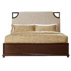 Virage Upholstered Panel Bed Size: Queen, Color: Brown