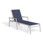 Farmington Chaise Lounge Frame Color: Tekwood Vintage, Textile Color: Titanium