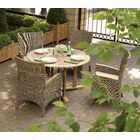 Honn 5 Piece Dining Set With Cushions Cushion Color: Dupione Papaya