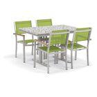 Farmington 5 Piece Teak Dining Set Finish: Ash, Cushion Color: Go Green