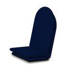 Indoor/Outdoor Sunbrella Full Adirondack Chair Cushion Fabric: Navy