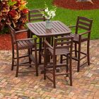 La Casa Caf� 5 Piece Bar Height Dining Set Finish: Mahogany