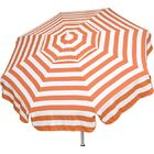 Italian 6' Beach Umbrella Fabric: Orange / White