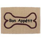 PB Paws & Co. Bone Appetit Cotton Pet Mat Color: Linen