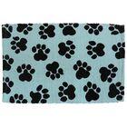 Isabella World Paws Cotton Pet Mat Color: Aqua/Black, Size: 24