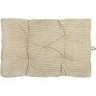Algonquin Ticking Stripe Crate Futon Mat Color: Slate, Size: 23