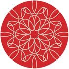 Ribbon Red/White Area Rug Rug Size: Round 8'