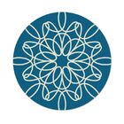Ribbon Hand-Tufted Turquoise Area Rug Rug Size: Round 6'