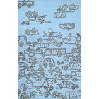 Kids Transport Ozone Blue/Sable Area Rug Rug Size: Rectangle 5' x 8'