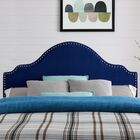 Leeds Upholstered Panel Headboard Upholstery: Sapphire Velvet, Size: Full/Queen