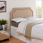 Arkadelphia Upholstered Panel Headboard Size: King / California King, Color: Khaki Linen