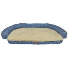 Comfy Pooch Printed Couch Bolster Color: Navy Blue