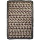 Vineyard Haven Sand Dunes/Brown Heather Border Indoor/Outdoor Area Rug Rug Size: Rectangle 2'3