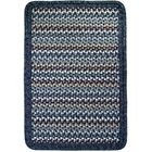Vineyard Haven South Beach/Blue Heather Border Indoor/Outdoor Area Rug Rug Size: Square 4'