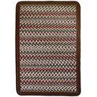 Vineyard Haven Island Cliffs/Solid Brown Border Indoor/Outdoor Area Rug Rug Size: Rectangle 8'6' x 11'6