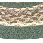 Minuteman Sage Green Solids with Mauve Accents Multi Runner Rug Rug Size: Runner 2'3