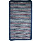Pioneer Valley II Olympic Blue with Dark Blue Solids Multi Square Rug Rug Size: Square 6'