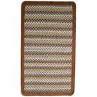 Green Mountain Maple Syrup Brown/Tan Striped Area Rug Rug Size: Square 8'