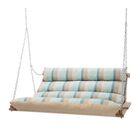 Paloma Deluxe Sunbrella Porch Swing Cushion Fabric: Blue/Beige