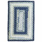 Cotton Braided Wedgewood Area Rug Rug Size: Oval 2' x 3'