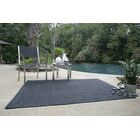 Ultra-Durable Black Solid Indoor/Outdoor Area Rug Rug Size: Oval 3' x 5'