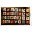 Penny Star Patch Sampler Black/Gold Area Rug Rug Size: 3' x 5'