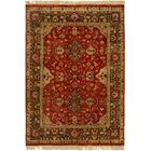 Dammam Hand-Knotted Red/Brown Area Rug Rug Size: 4' x 6'