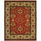 Khalifa Hand-Woven Red/Ivory Area Rug Rug Size: Rectangle 2' x 3'