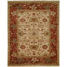 Hidd Hand-Knotted Ivory/Red Area Rug Rug Size: Rectangle 2' x 3'