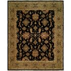 Asseb Hand-Knotted Black/Camel Area Rug Rug Size: Square 10'