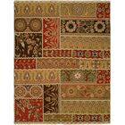 Sudan Hand-Woven Brown/Red Area Rug Rug Size: Rectangle 2' x 3'